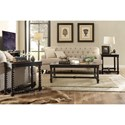 Riverside Furniture Alvaro End Table with Beveled Glass Insert Top