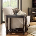 Riverside Furniture Alvaro Chairside Table with Beveled Glass Insert Top