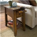 Riverside Furniture Andorra End Table with Pullout Shelf