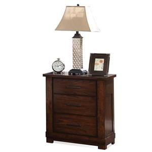 Riverside Furniture Arrondelle 3-Drawer Nightstand
