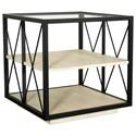 Riverside Furniture Asher Square Side Table - Item Number: 41409