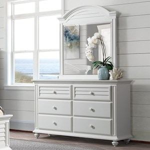 6-Drawer Dresser and Mirror Combo