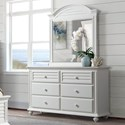 Riverside Furniture Avon 6-Drawer Dresser and Mirror Combo - Item Number: 28860+1