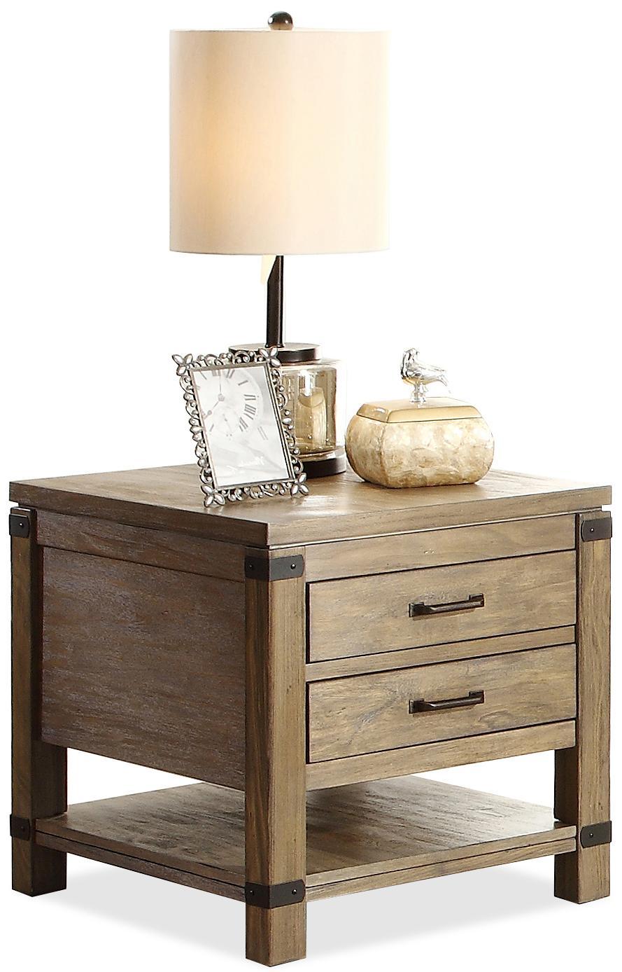 Riverside Furniture Bay Cliff End Table - Item Number: 37709