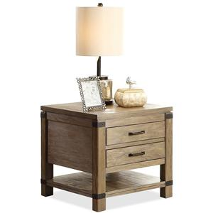 Riverside Furniture Bay Cliff End Table