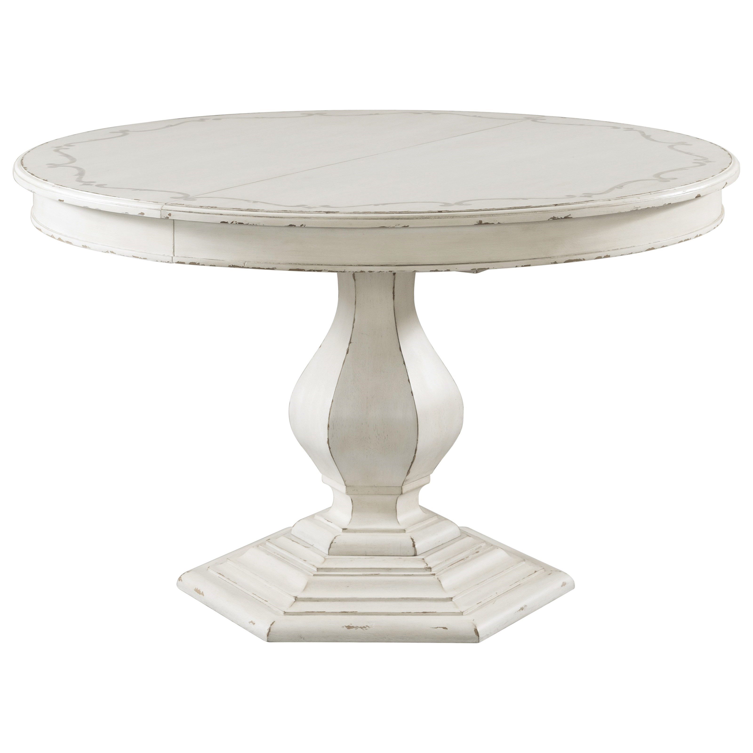 Stencil Top Round Dining Table