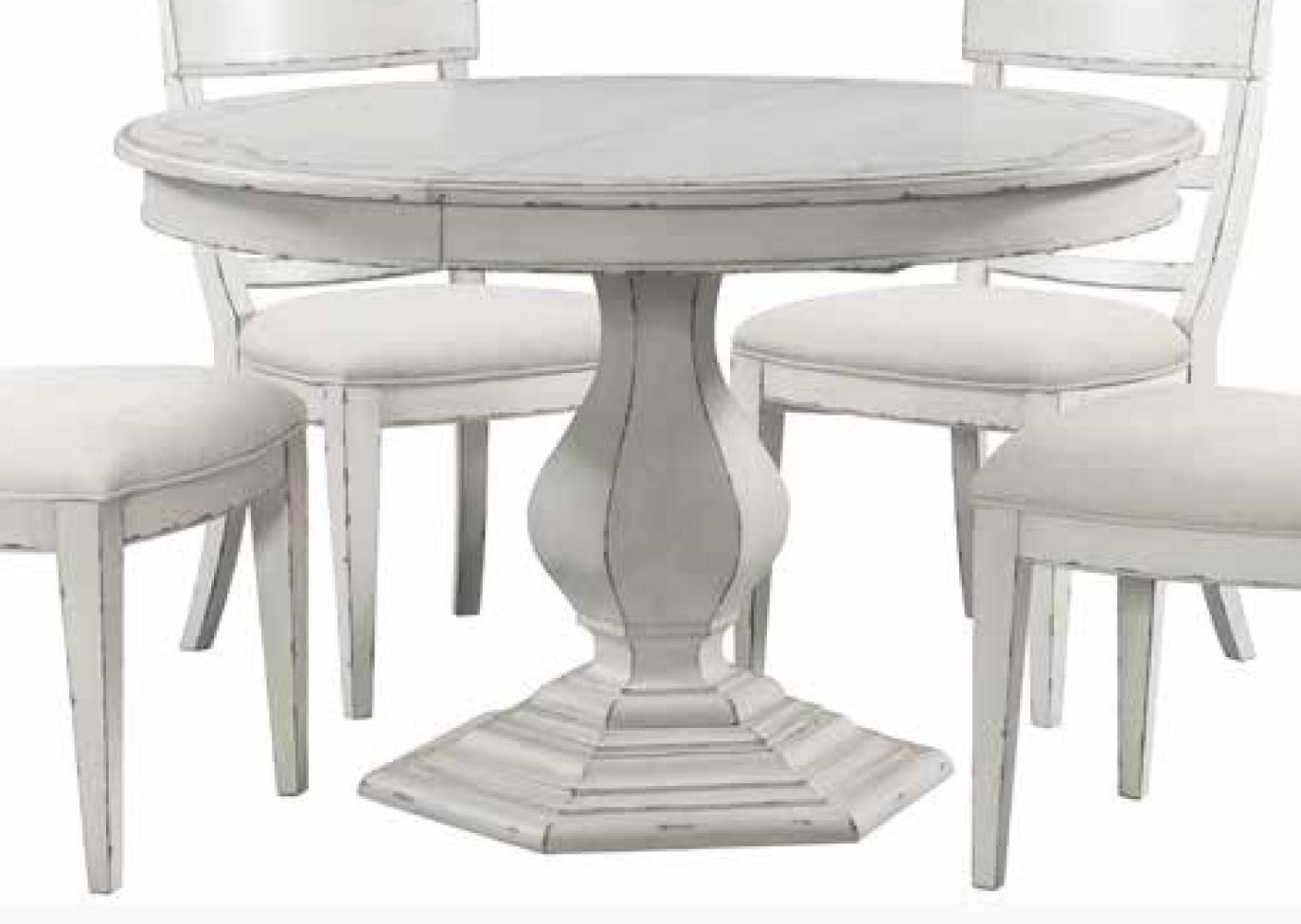 Round Dining Table with Stencil Top