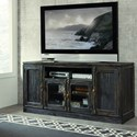 Riverside Furniture Bellagio 68-Inch TV Console in Weathered Black Finish