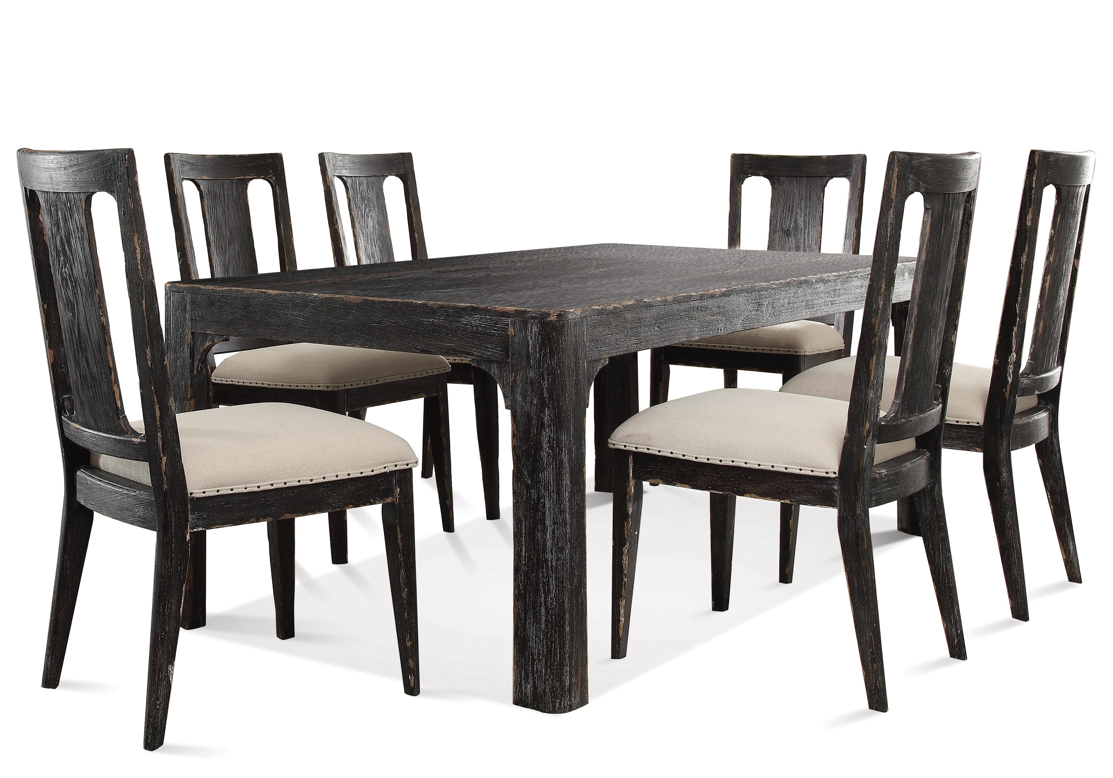 Riverside Furniture Bellagio 76- Inch Dining Table and Chair Set - Item Number: 11850+6x11857