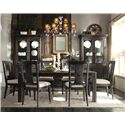 Riverside Furniture Bellagio Weathered China Cabinet w/ Glass Shelves