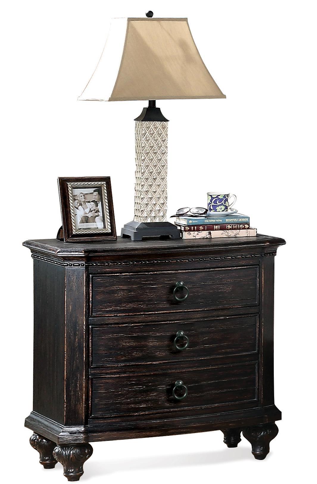 Riverside Furniture Bellagio Two Drawer Nightstand - Item Number: 11869