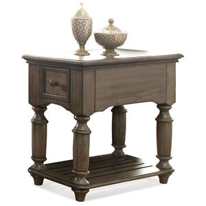 Riverside Furniture Belmeade Chairside Table
