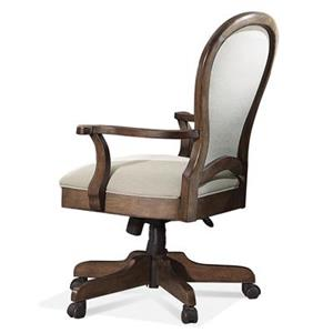 Riverside Furniture Belmeade Round Back Upholstered Desk Chair