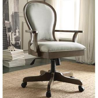 Riverside Furniture Belmeade Scroll Back Upholstered Desk Chair - Item Number: 15839