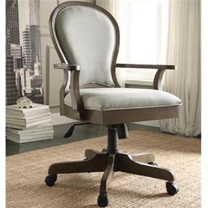 Riverside Furniture Belmeade Scroll Back Upholstered Desk Chair