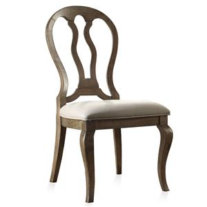 Riverside Furniture Belmeade Queen Ann Upholstered Side Chair