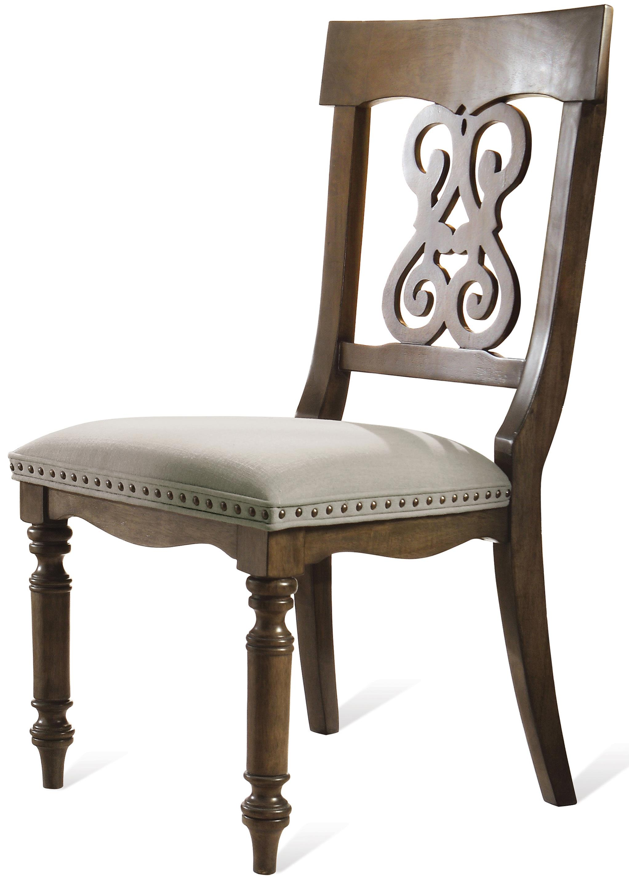 Riverside Furniture Belmeade Scroll Upholstered Side Chair - Item Number: 15857