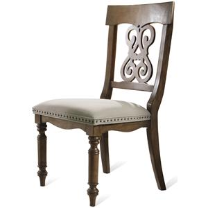 Riverside Furniture Belmeade Scroll Upholstered Side Chair
