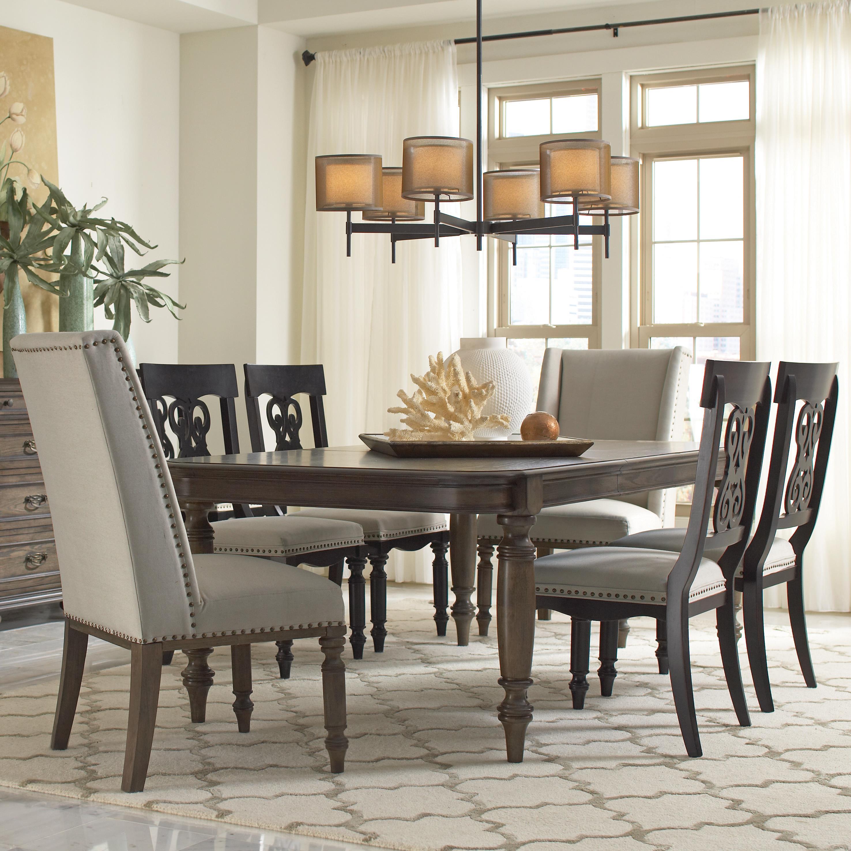 Riverside Furniture Belmeade Hostess Chair W Nailhead Trim Prime Brothers Furniture Dining