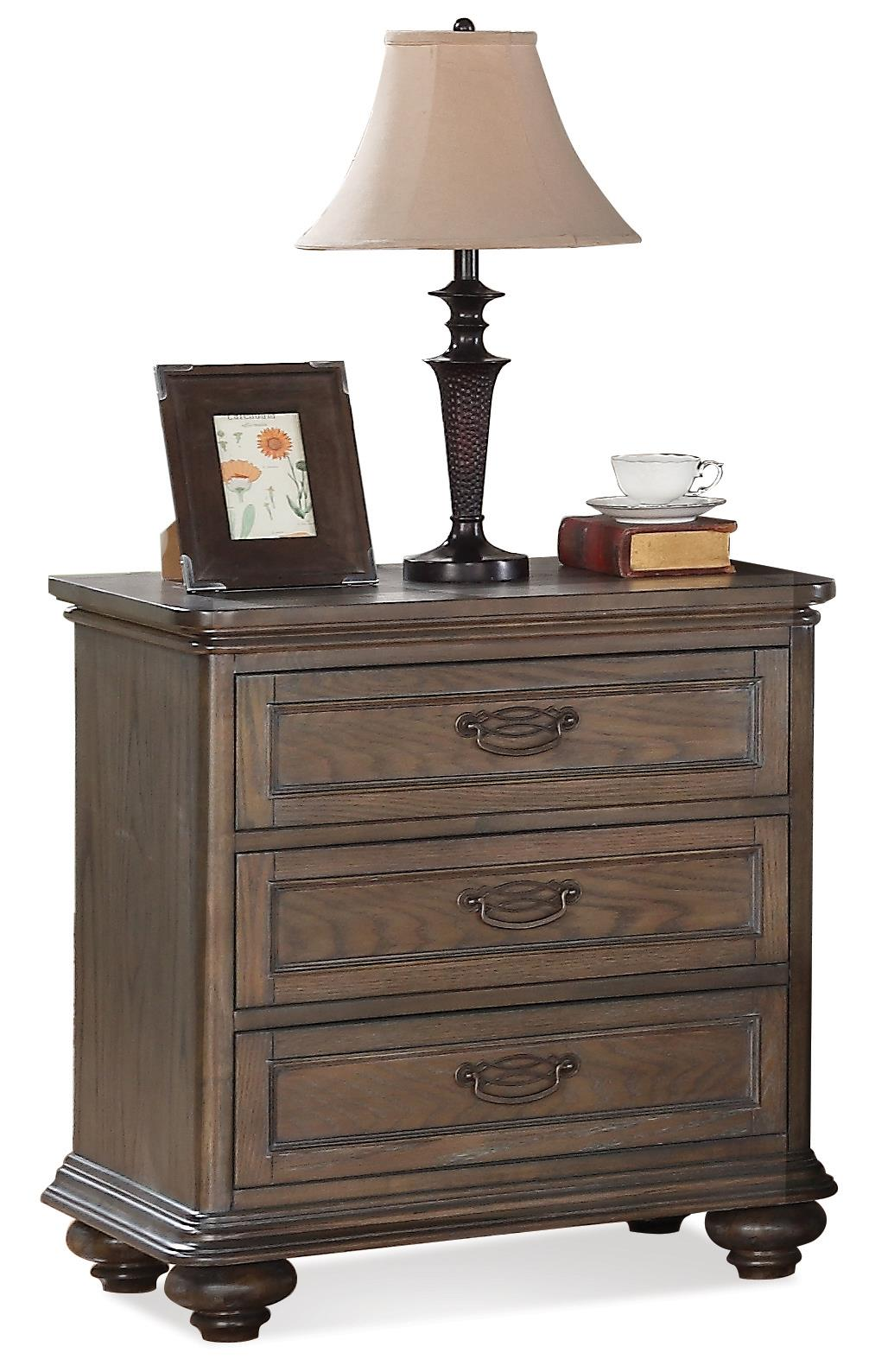 Riverside Furniture Belmeade Three Drawer Nightstand - Item Number: 15868