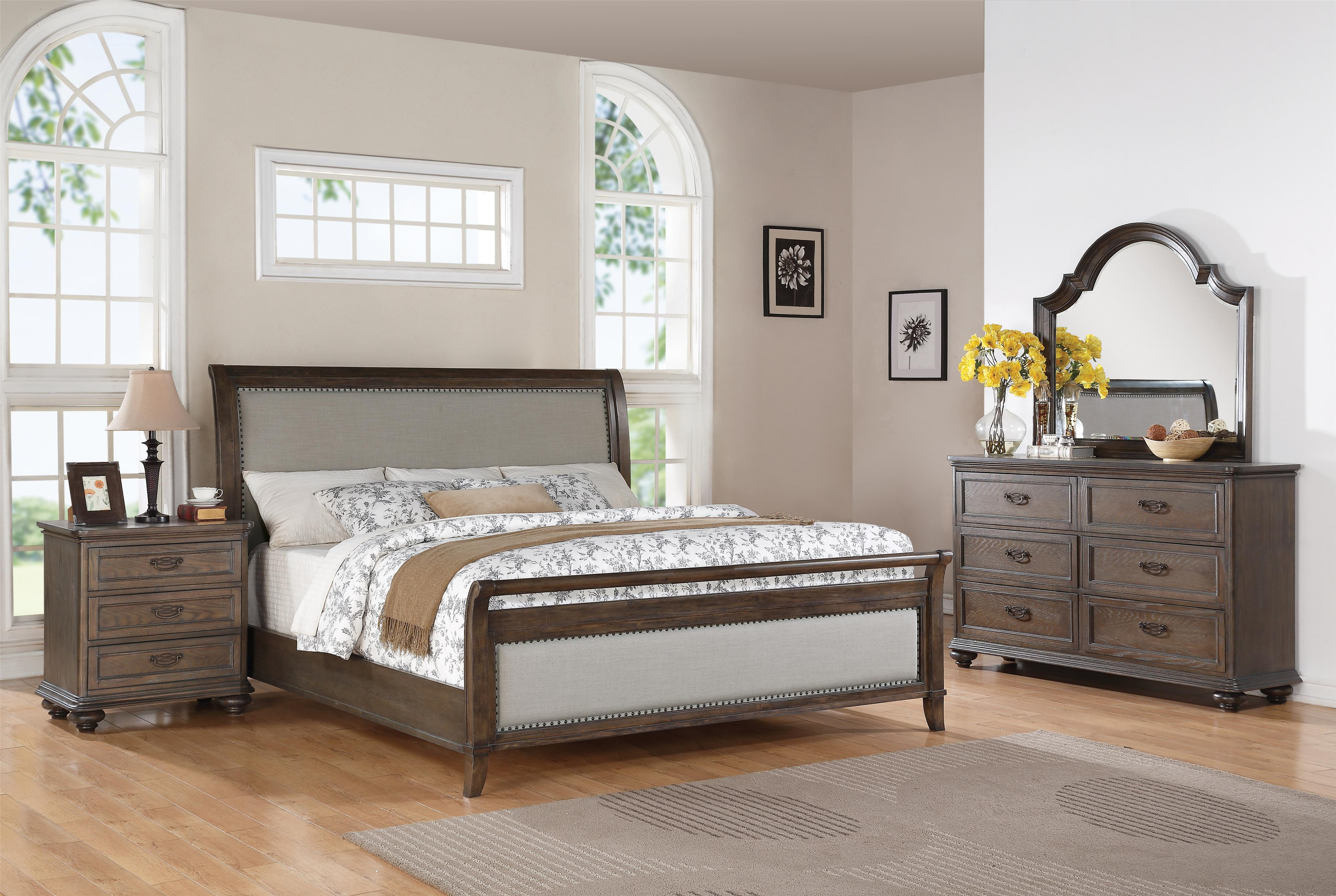 Riverside furniture belmeade queen sleigh upholstered bed Upholstered sleigh bed