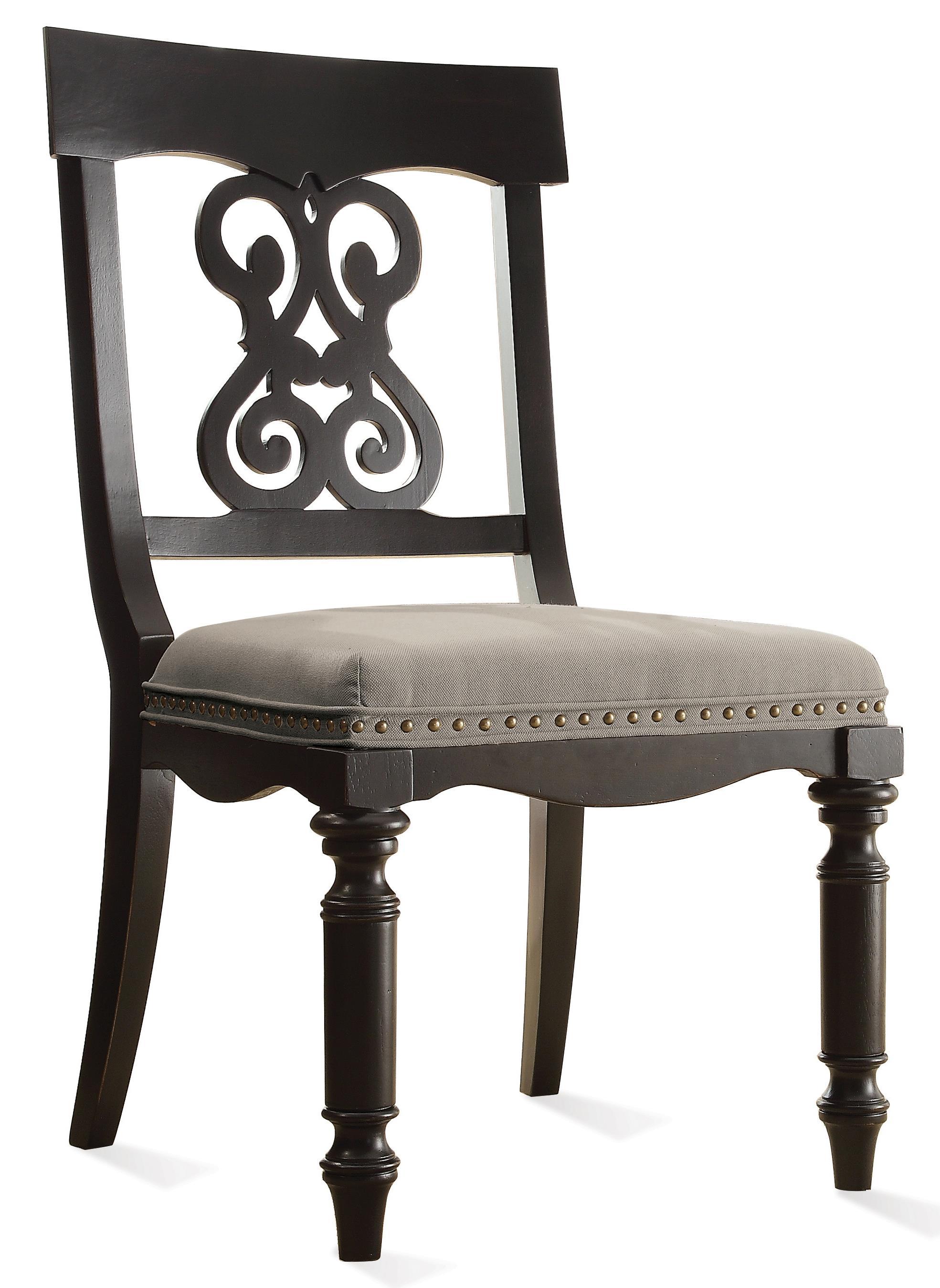 Riverside Furniture Belmeade Scroll Upholstered Side Chair - Item Number: 15957