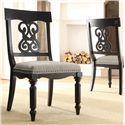 Riverside Furniture Belmeade Scroll Upholstered Side Chair