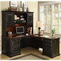 Riverside Furniture Bridgeport  L-Shape Computer Workstation Desk with Hutch - Shown in Office Space