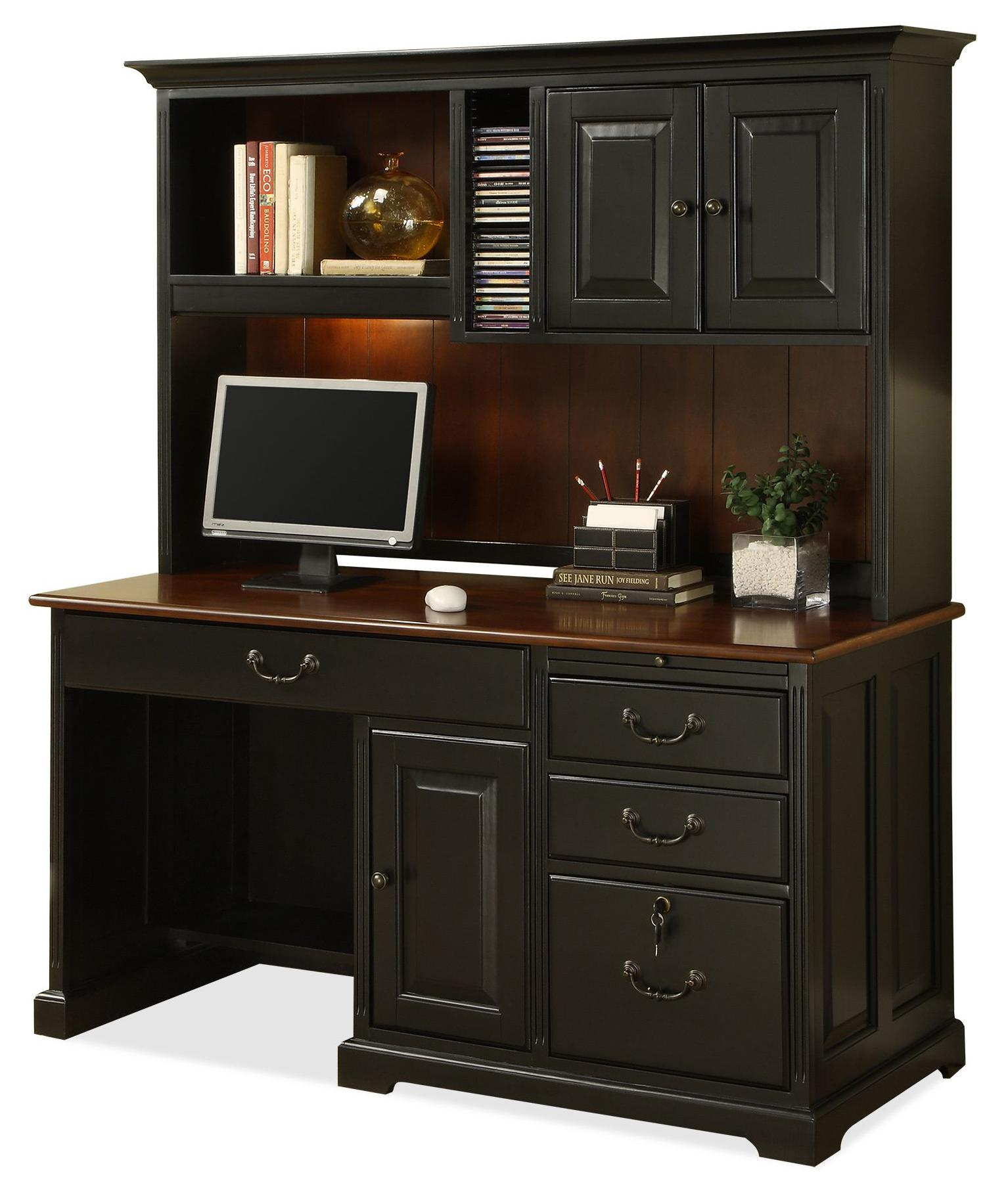 Riverside Furniture Bridgeport Single Pedestal Computer Desk With Storage Hutch Ahfa Dealer Locator