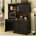 Riverside Furniture Bridgeport  Single Pedestal Computer Desk with Storage Hutch - Shown in Room Setting