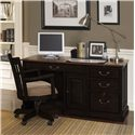 Riverside Furniture Bridgeport  Single Pedestal Computer Desk - Shown with Task Chair in Office