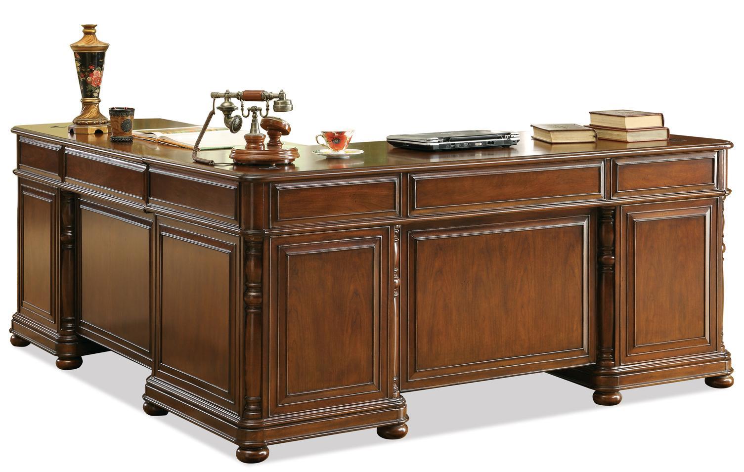 Riverside Furniture Bristol Court L-Desk And Return - Item Number: 24532
