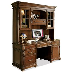 Riverside Furniture Bristol Court Computer Credenza and Hutch