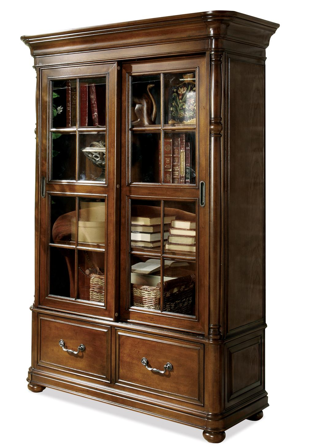 Riverside Furniture Bristol Court Sliding Door Bookcase - Item Number: 24537