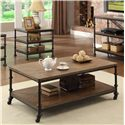 Riverside Furniture Camden Town Rectangular Cocktail Table with Casters - 23702
