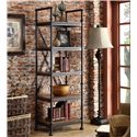 Riverside Furniture Camden Town Open Etagere with 5 Shelves - Shown in Room Setting