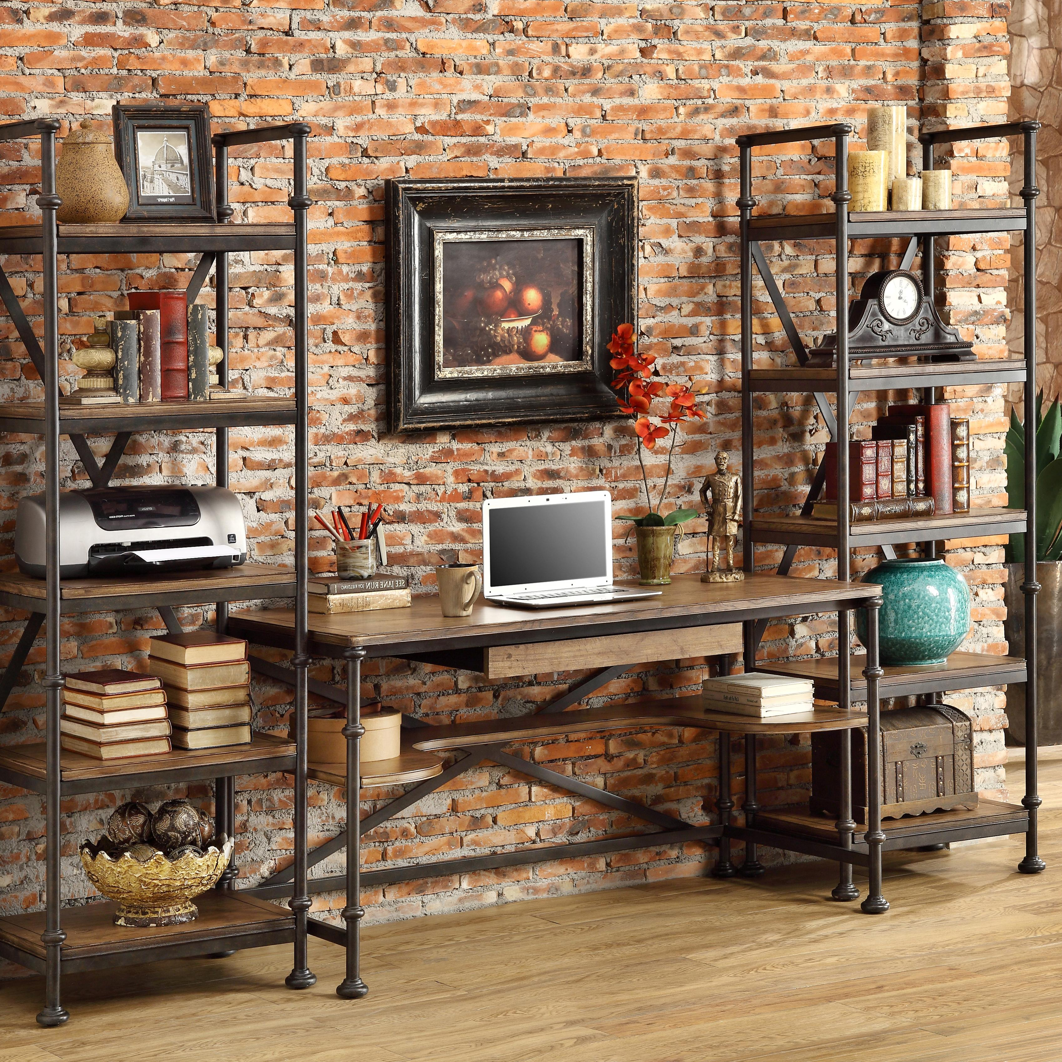 Riverside Furniture Camden Town Open Office Wall Unit With
