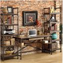 Riverside Furniture Camden Town Rectangular Writing Desk with Lower Shelving - Shown with Etagere Piers