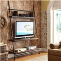 Riverside Furniture Camden Town Leaning TV Stand with 4 Shelves - Shown in Room Setting