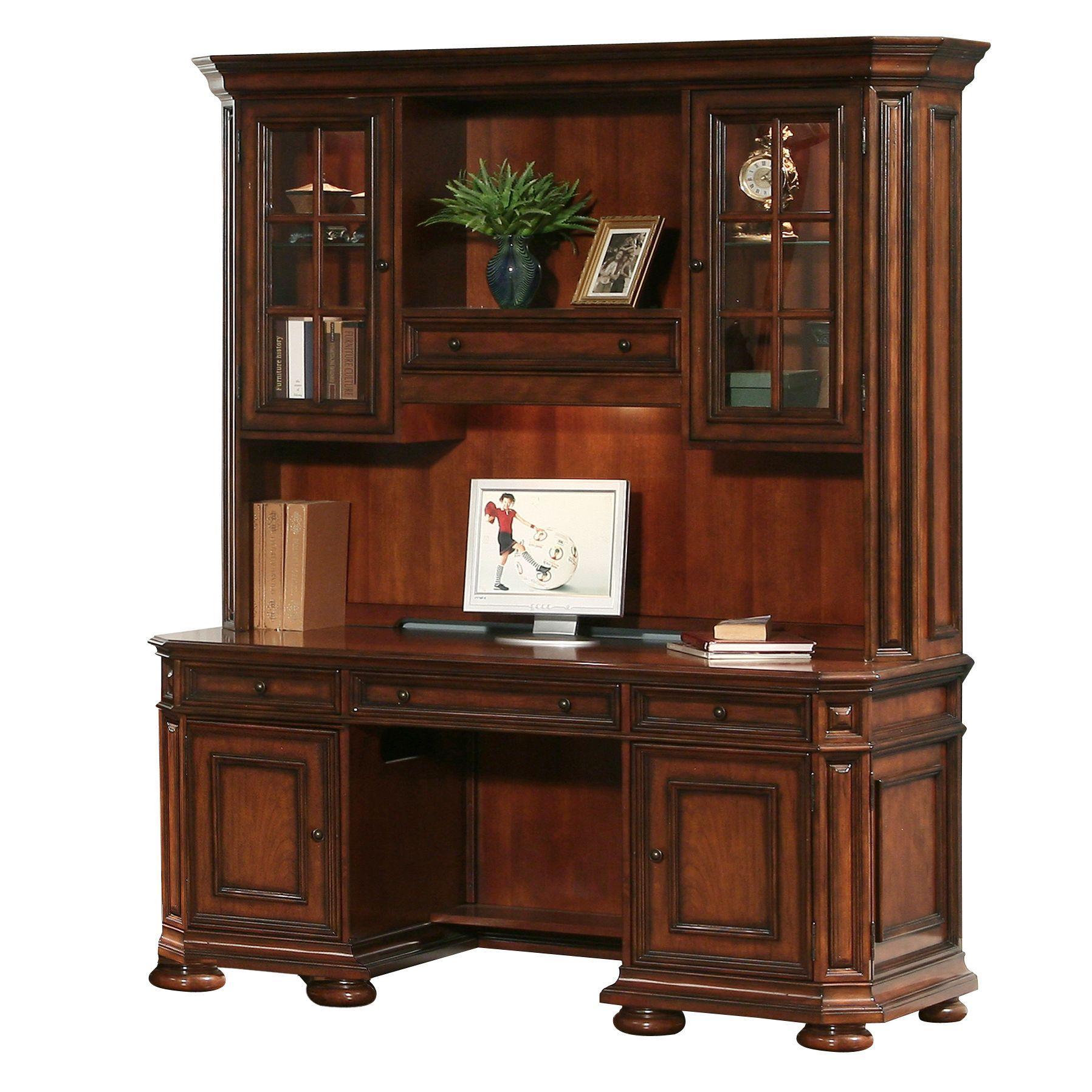 Riverside Furniture Cantata Computer Credenza & Hutch - Item Number: 4926+27