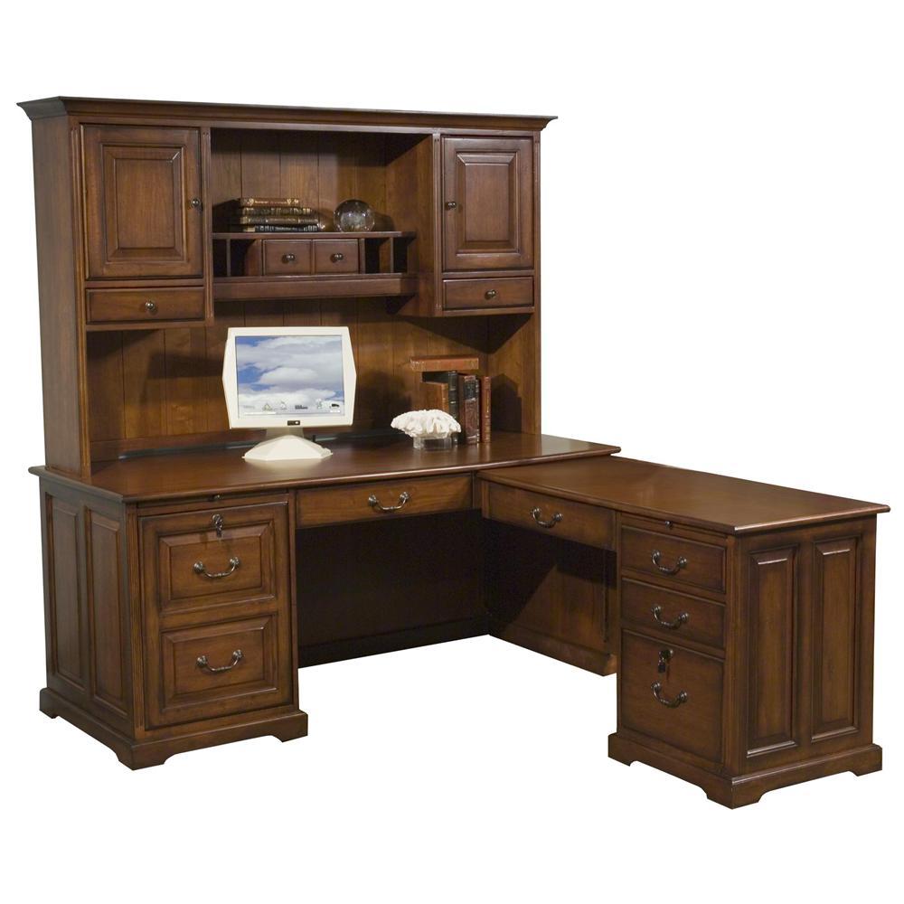 Riverside Furniture Cantata Computer Workstation and Hutch - Item Number: 4930+4931