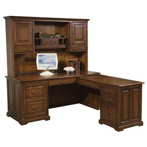 Riverside Furniture Cantata Computer Workstation and Hutch