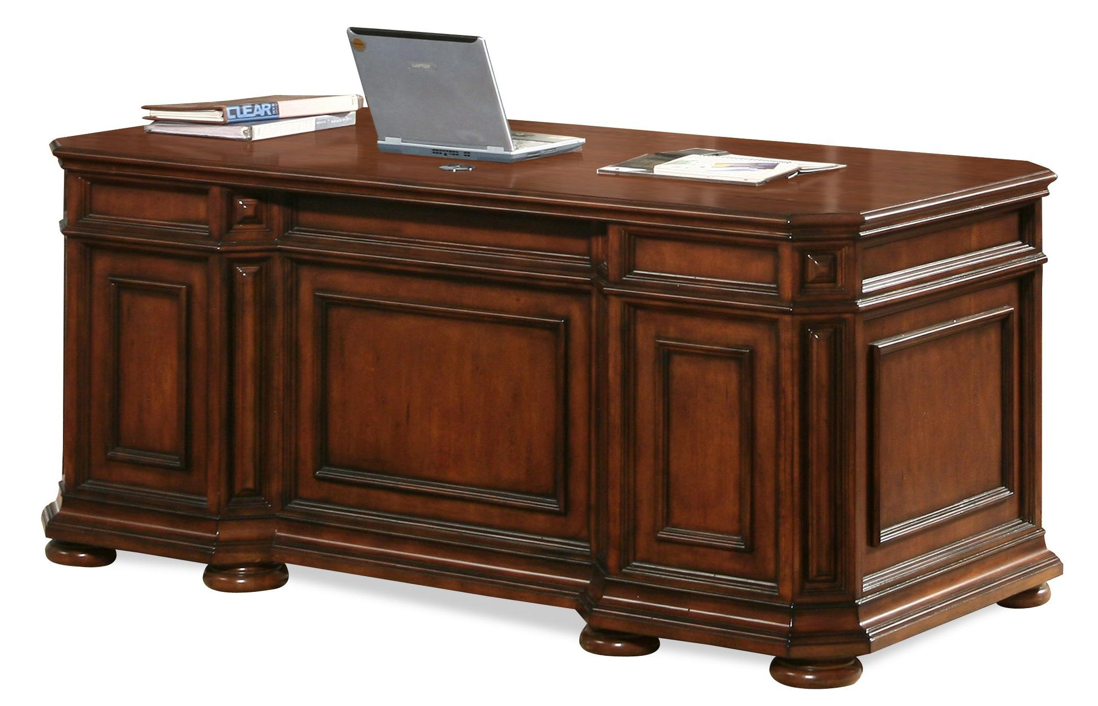 Riverside Furniture Cantata 4932 Double Pedestal Executive Desk Hudson 39 S Furniture Double