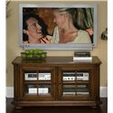 Riverside Furniture Cantata Traditional 48-Inch TV Console - Two Adjustable Shelves and Two Fixed Shelves