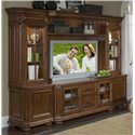 Riverside Furniture Cantata Traditional 63-Inch TV Console Wall System - 4943+4944+4945+4946+4947+4948 - Display Your TV and Home Decor with the Many Display Options