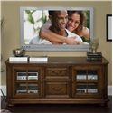 Riverside Furniture Cantata Traditional 63-Inch TV Console - Center Bottom Drawer Features Game Controller Storage Box