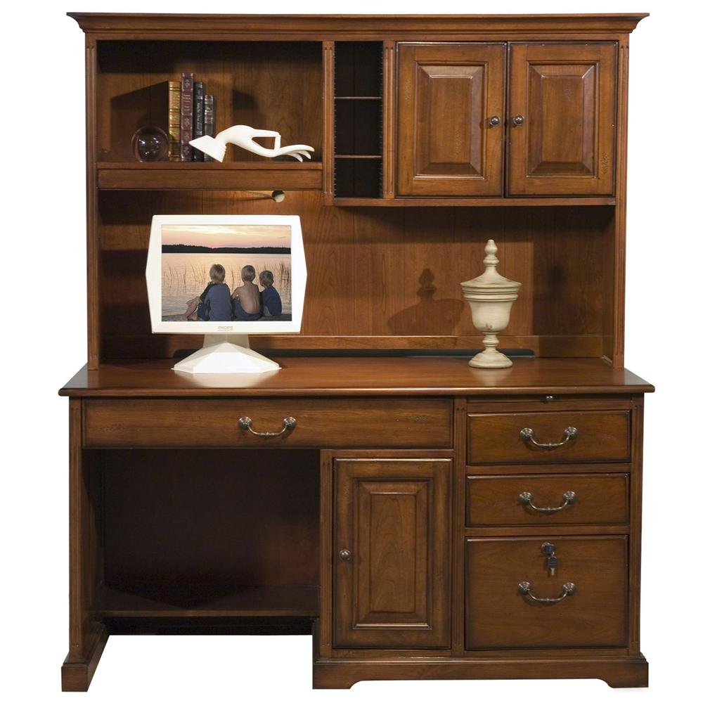 Riverside Furniture Cantata 58-Inch Computer Desk and Hutch - Item Number: 4958+4959