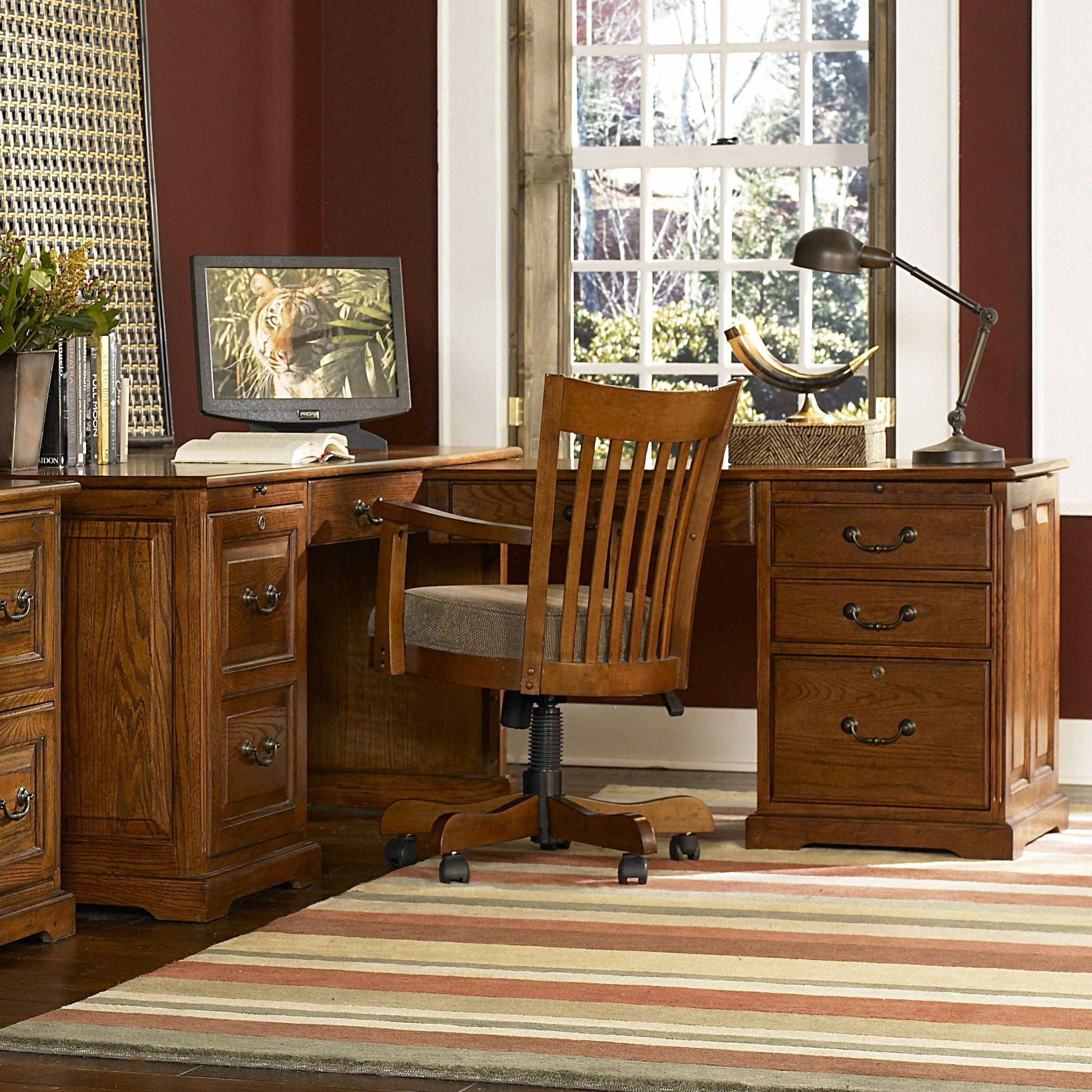 Cantata Traditional L Computer Workstation By Riverside Furniture