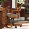 Riverside Furniture Cantata Swivel Desk Chair - Swivel and Five-prong Tilt Base with Rocker Tension Adjustment Knob