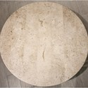 Riverside Furniture Capri Round Cocktail Table with Travertine Stone Table Top